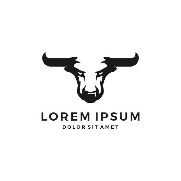 Głowa Logo Byka I Toro Premium Wektorów