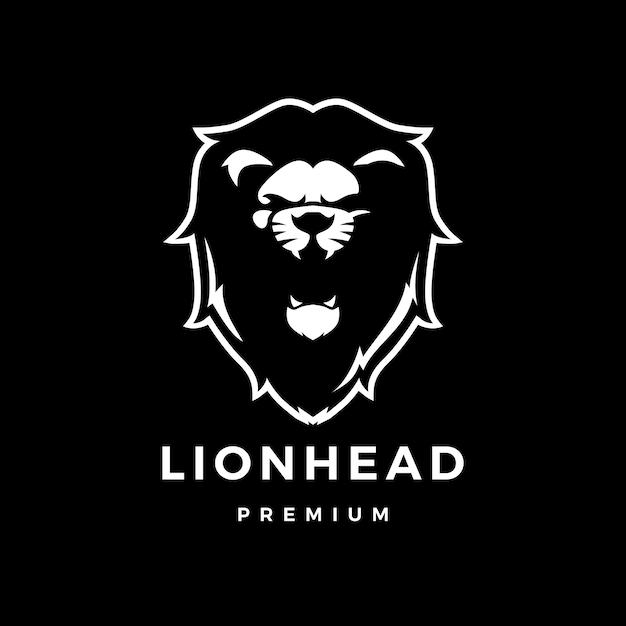 Głowa Lwa Ikona Ilustracja Logo Premium Wektorów