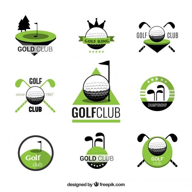 Golf club odznaczenia Darmowych Wektorów