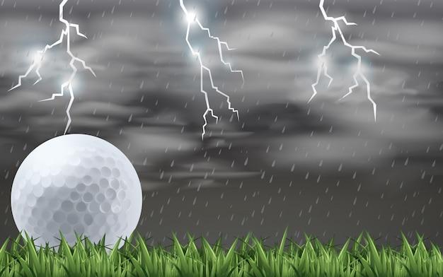 Golf na polu Premium Wektorów