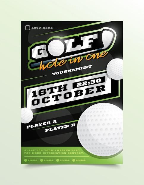 Golf Sport Flyer Premium Wektorów