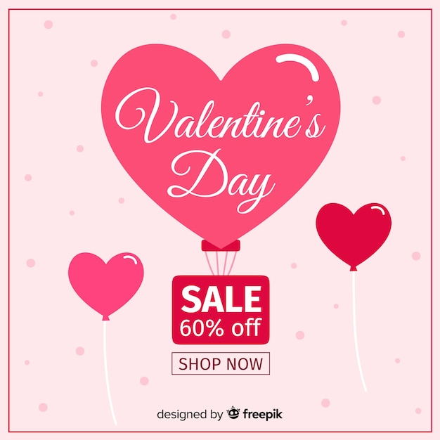 Gorące powietrze balonu valentine sprzedaży tło Darmowych Wektorów