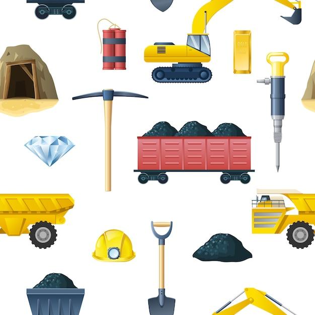 Górnictwo Wzór Darmowych Wektorów