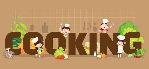 Gotowanie W Tle Premium Wektorów