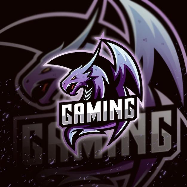 Gra E-sportowa Z Logo Dragon Premium Wektorów