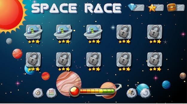 Gra Wyścig Kosmiczny Darmowych Wektorów