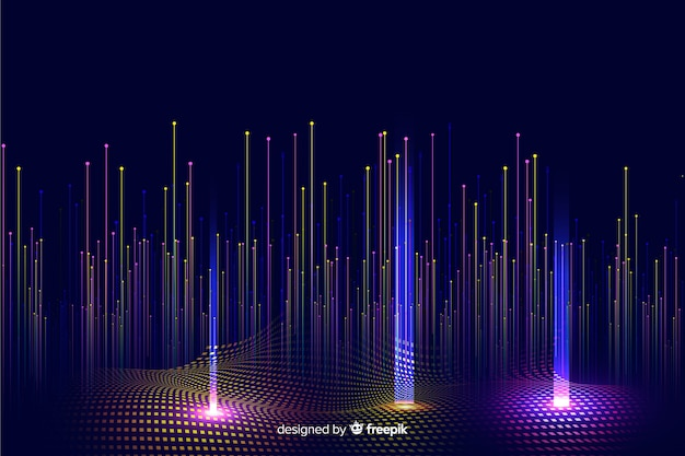 Gradient technologiczny spadające cząsteczki tła Darmowych Wektorów