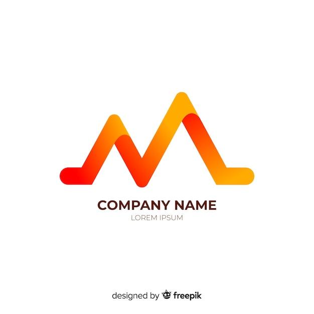 Gradient zaokrąglony streszczenie logotyp firmy Darmowych Wektorów