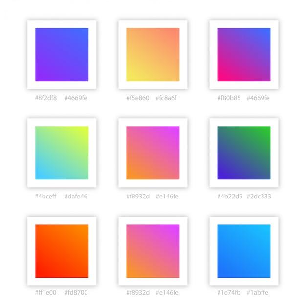 Gradientowa Kolekcja Kolorów Premium Wektorów