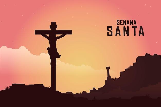 Gradientowa Semana Ilustracja Santa Darmowych Wektorów