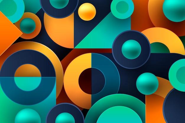 Gradientowa Tapeta Z Geometrycznymi Kształtami Darmowych Wektorów