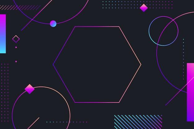Gradientowe Kształty Geometryczne Na Ciemnym Tle Darmowych Wektorów