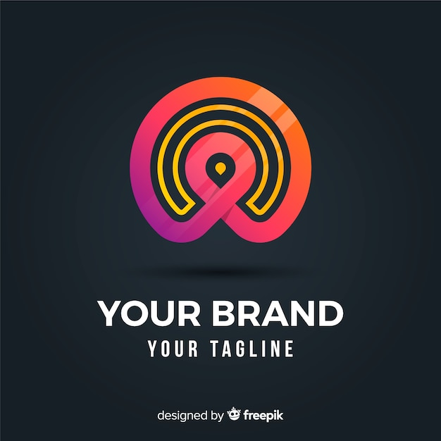 Gradientowe logo o abstrakcyjnym kształcie Darmowych Wektorów