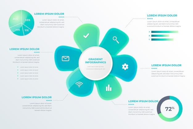 Gradientu Abstrakcyjny Kształt Szablonu Infographic Darmowych Wektorów
