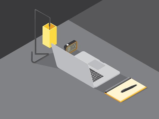 Graficzny Izometryczny Notes Na Szaro Premium Wektorów