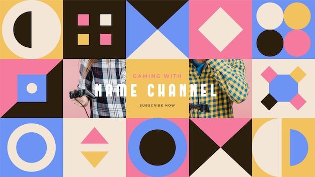 Grafika Kanału Youtube Poświęcona Grom Geometrycznym Darmowych Wektorów