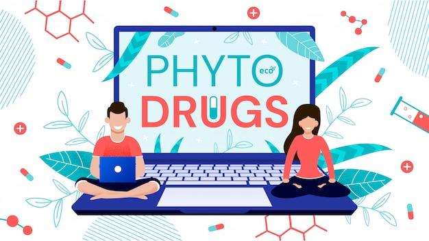 Green Herbal Phyto Drugs Zamów Usługę Online Premium Wektorów
