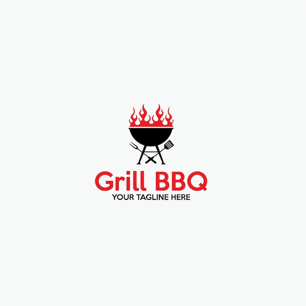 Grill Bbq Logo Premium Wektorów