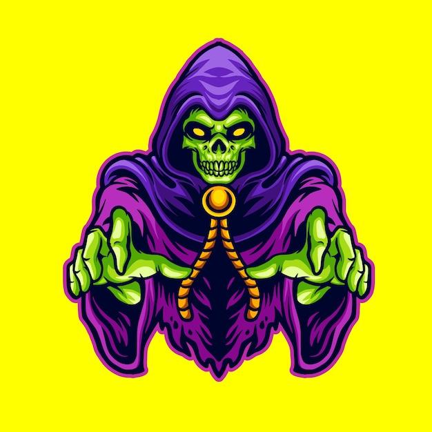 Grim Reaper Terror Premium Wektorów