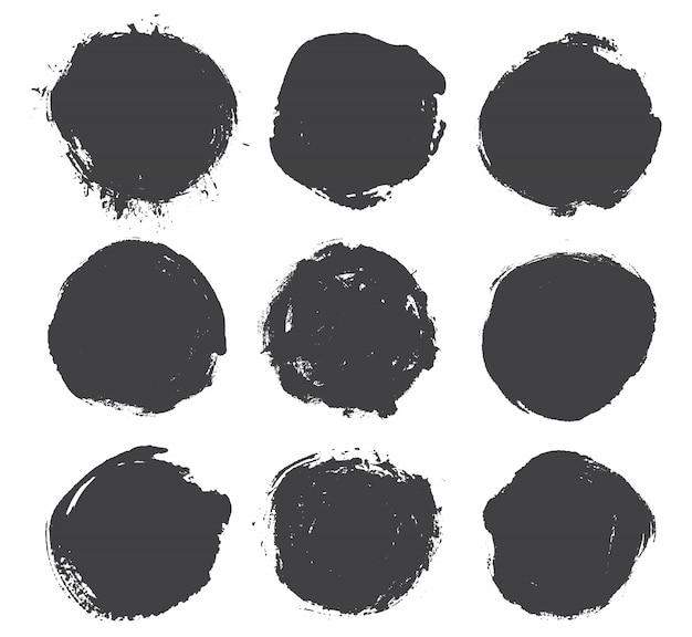 Grunge okrągłe kształty Premium Wektorów