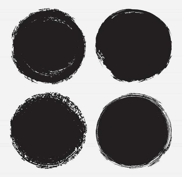 Grunge okrągły znaczek Premium Wektorów
