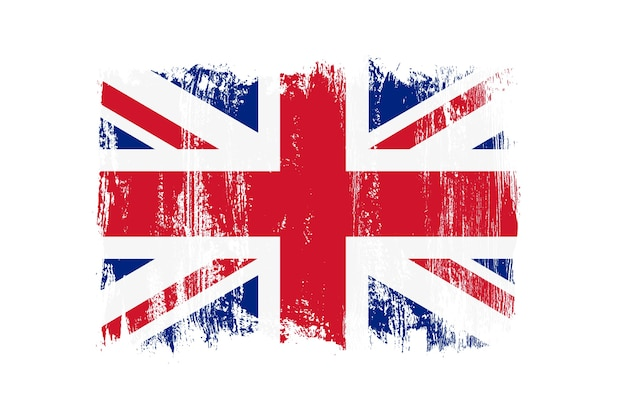 Grunge Rocznika Flaga Wielkiej Brytanii Premium Wektorów
