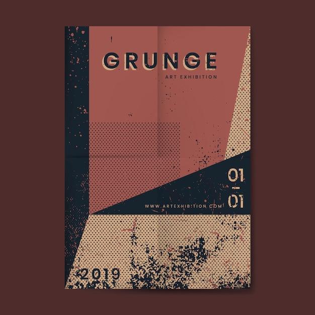 Grunge zakłopotany tekstura plakat Darmowych Wektorów