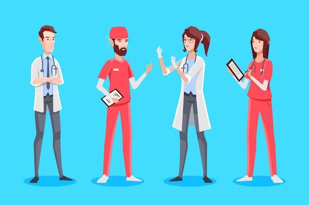 Grupa Medyczna Ilustrowana Darmowych Wektorów