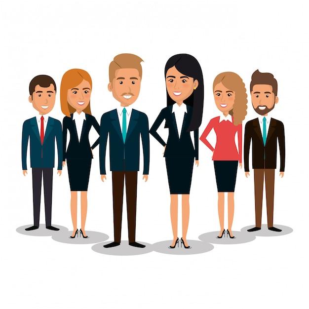 Grupa przedsiębiorców pracy zespołowej ilustracji Darmowych Wektorów