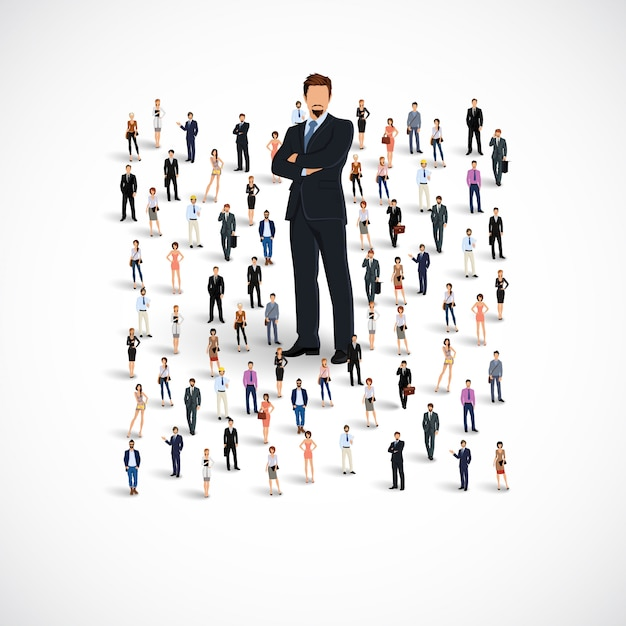 Grupa zespołów biznesowych Premium Wektorów