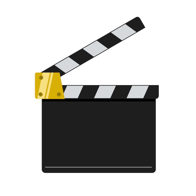 Grzechotka Kino Ilustracja Na Białym Tle. Premium Wektorów