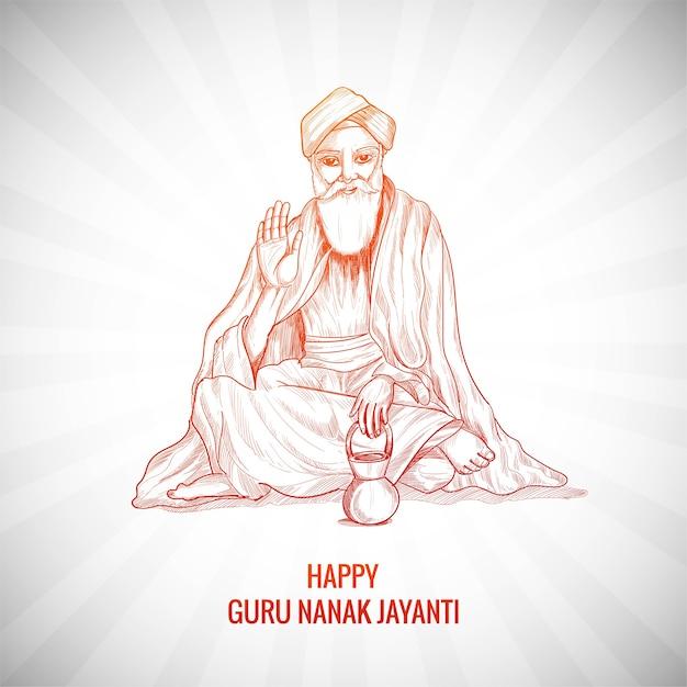 Guru Nanak Jayanti Festiwal Tła Sikhijskiego Darmowych Wektorów