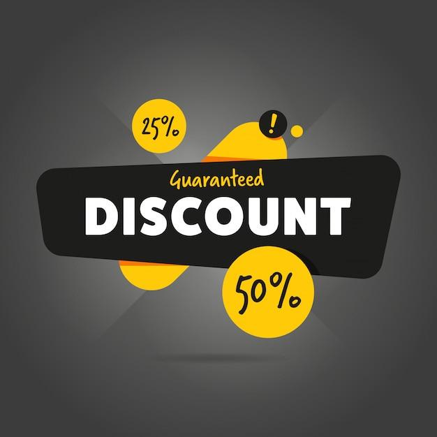 Gwarantowany rabat promocyjny banner reklamowy Premium Wektorów