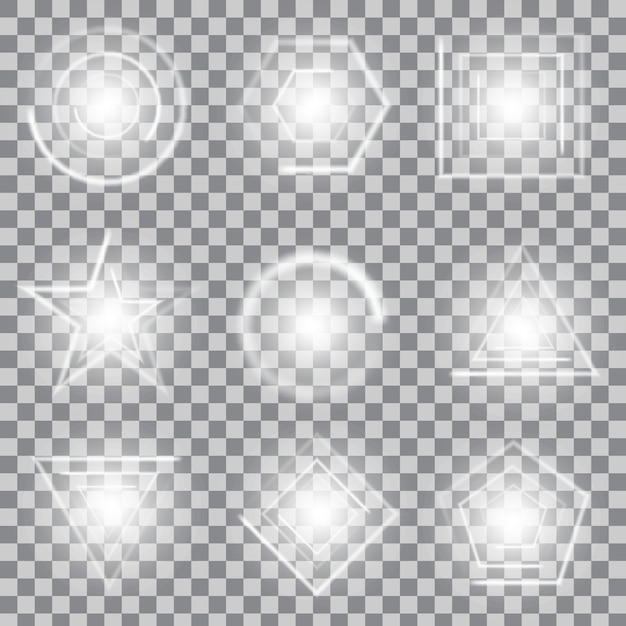 Gwiazdy świecące z efektem świetlnym wybuchają iskierkami. Premium Wektorów