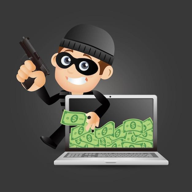 Haker I Złodziej Premium Wektorów