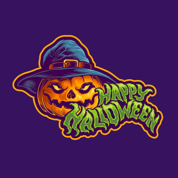 Halloween Jack O Lampion Projekt Postaci Premium Wektorów