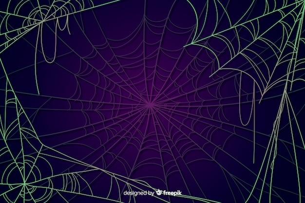 Halloween pajęczyna tło Darmowych Wektorów