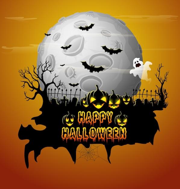 Halloween Party Plakat Premium Wektorów
