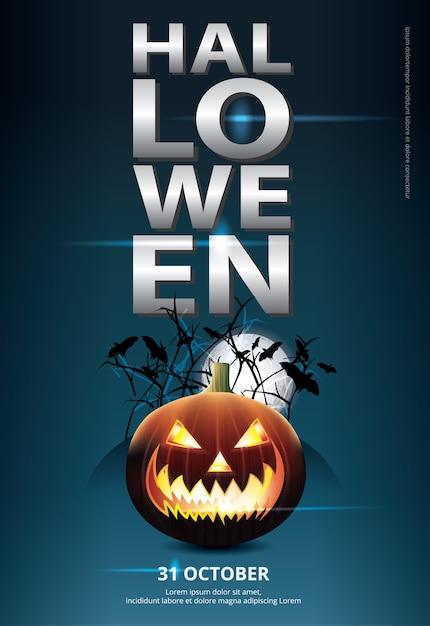 Halloween Plakat Szablon Projektu Ilustracji Wektorowych Darmowych Wektorów