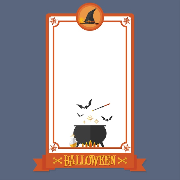 Halloween Poster Witch Magic Premium Wektorów