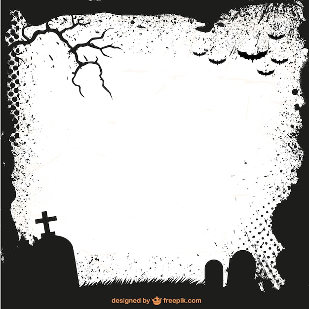 Halloween Ramka Szablon Sylwetka Wektor Darmowe Pobieranie