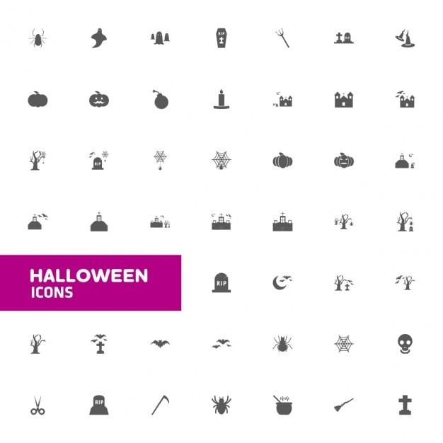 Halloween Zestaw Ikon Darmowych Wektorów