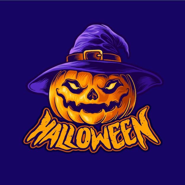 Halloweenowa Głowa Jack O Lantern Premium Wektorów