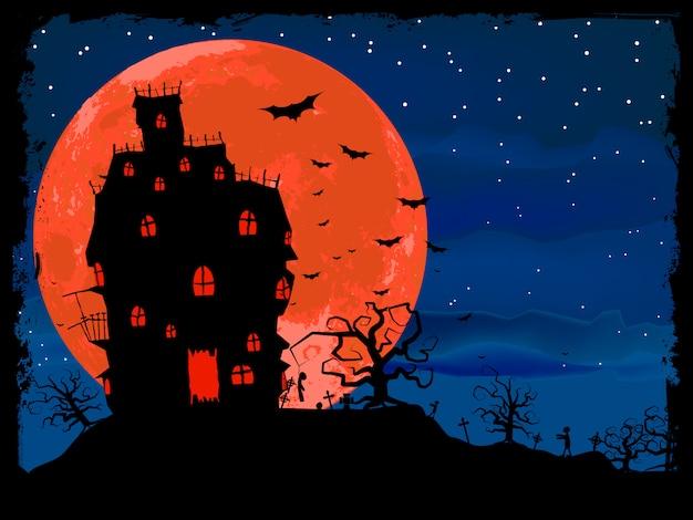 Halloweenowy Plakat Z Zombie. Premium Wektorów