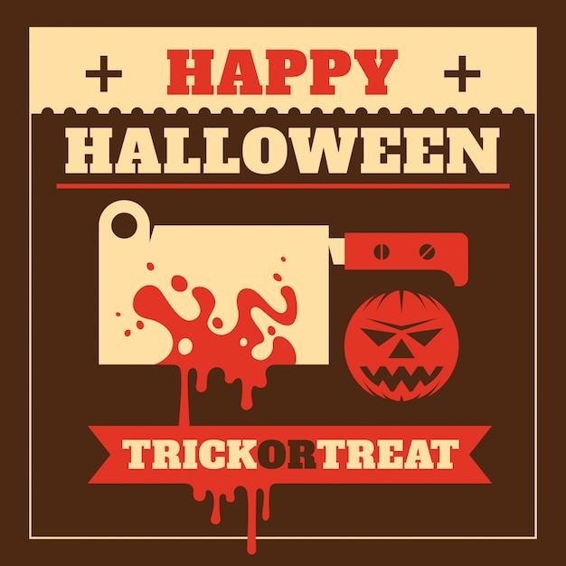 Halloweenowy tło Premium Wektorów