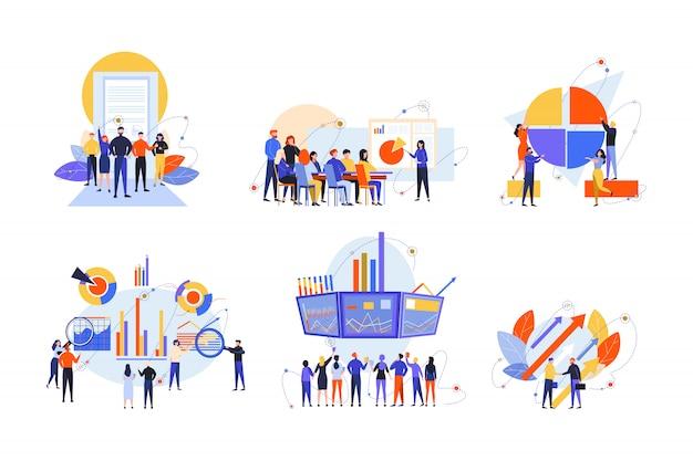 Handel Akcjami, Interesariusz, Inwestycje, Analizy, Koncepcja Zestawu Biznesowego Premium Wektorów