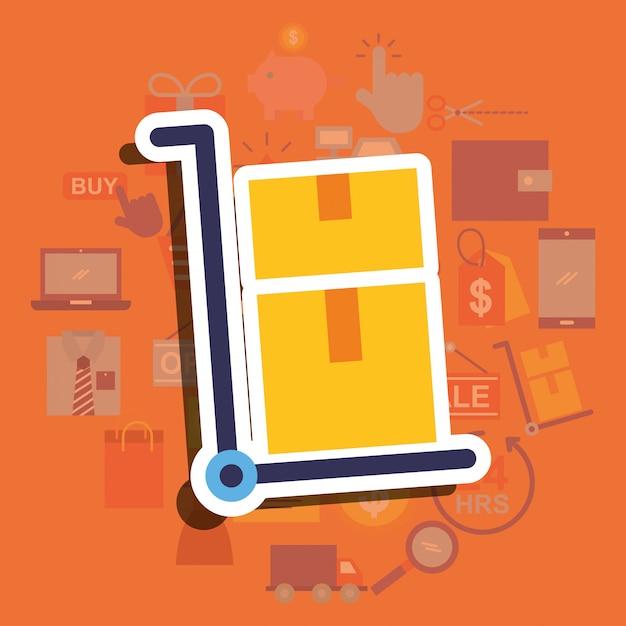 Handel Online Zakupy Premium Wektorów
