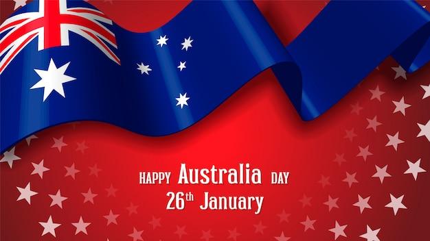 Happy Australia Day Celebration Plakat Lub Transparent Tło Premium Wektorów