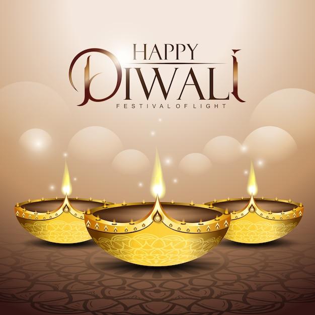 Happy diwali background Premium Wektorów