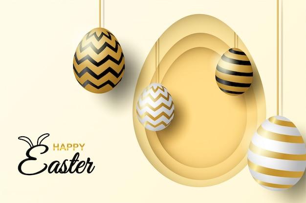 Happy easter celebration Premium Wektorów